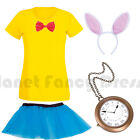LADIES ALICE IN WONDERLAND WHITE RABBIT FANCY DRESS COSTUME BOOK WEEK