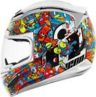 ICON AIRMADA DOODLE WHITE FULL FACE MOTORCYCLE HELMET XS TO 3XL