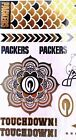 NFL Temporary Metallic Foil Tattoo Body Jewelry Set Choice of Teams