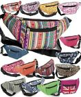 NEW LADIES CANVAS BUMBAG TRAVEL HOLIDAY MONEY ZIP POUCH FESTIVAL FANNY PACK