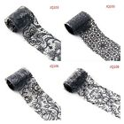 1 Roll DIY Black Lace Multi Style Nail Art Transfer Foil Stickers Manicure Decor