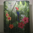 Shower Curtain Parrot & Nature Design Bathroom Waterproof Fabric Ring Pull
