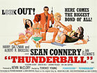 Home Wall Print - Vintage Movie Poster - JAMES BOND THUNDERBALL - A4,A3,A2,A1 £5.99 GBP on eBay
