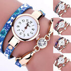 Women's Fashion Ladies Faux Leather Rhinestone Dress Analog Quartz Wrist Watches
