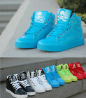 Fashion Mens High Top Sneakers Hip-hop Skull Skateboard Lace Up Casual Shoes