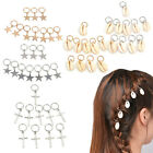 10 Pc Women Star Cross Shell Hoop Dreadlock Dreads Updo Hair Pin Clips Barrette