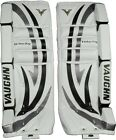 New Vaughn 7260 ice hockey goalie goal 28+1 leg pads intermediate black/silver