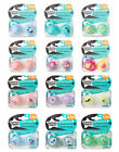 """TOMMEE TIPPEE NEW RANGE """"ANYTIME"""" SOOTHERS 6-18M 2 IN PACK BOYS/GIRLS  BPA FREE"""