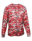 BADGER SPORTSWEAR B-CORE LONG-SLEEVE DIGITAL CAMO TEE - SUBLIMATED POLYESTER