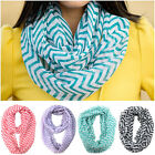 Women Girls Soft Sheer Infinity Scarf Scarves Warm Winter Gift Lady