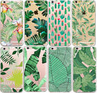 Various Plants Cactus Banana Leaves Soft Case Cover For iphone 5S 5C SE 6 7 Plus