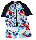 Kids Boys Summer Hawaii Style 3-Piece Swimming Suit Set Age 2-9