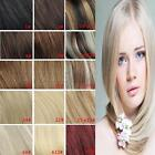 7PCs Clips in Real Human Hair Extensions Black Brown AAA High Quality 22in 100G