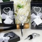 WINE BOTTLE STOPPERS Diamond Heart Wedding Favors Party H...