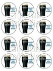 GUINNESS EDIBLE CAKE or CUPCAKE TOPPERS Icing or Wafer IN MANY SIZES