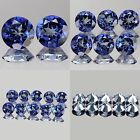 4mm Matched Lot 2,6,10pcs Round Cut Natural BLUE PASSION TOPAZ