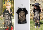 Baby Girl Kids Punk Fashion Short Sleeve Tassel Top T-shirts Blouse Clothes Tops
