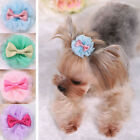 Cute Pretty Pet Dog Cat Topknot Hair Clips Hair Bows Accessories Grooming