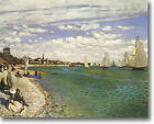 HUGE Monet  Regatta at Sainte-Adresse Stretched Canvas Giclee  Repro ALL SIZES