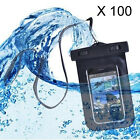 QTY 100 X  Waterproof Underwater Pouch Dry Bag Case Cover...