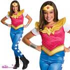 Girls Wonder Woman Classic DC Comics Superhero Licensed Kids Fancy Dress Costume