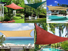 Sun Shade Sail UV Top Awning Outdoor Patio Canopy Cover Triangle/Rectangle W/Bag
