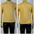 Star Trek Beyond Kirk Sulu Outfit Yellow Shirt Uniform Cosplay Costume