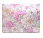 Pretty Pink Flowers Glass Chopping Board item Any Text Image Logo