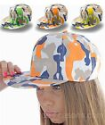 6-Panel Camouflage Snap Cap bunt in 3 Farben Rapper verstellbar Tarnmuster AT404