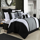 Livingston Black Comforter Bed In A Bag Set 12 piece