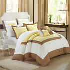 Ballroom Yellow, Brown & White 11 Piece Comforter Bed In A Bag Set