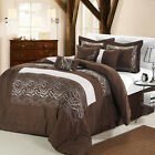 Zebra Brown Comforter Bed In A Bag Set 8 Piece