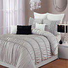 Romantic Silver 8 Piece Duvet Cover Bed In A Bag Set