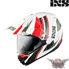 IXS HX 207 ATLAS WHITE RED MOTORCYCLE ENDURO HELMET YELLOW CROSS OFFROAD