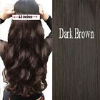 """Real Thick, 12"""" Real Full Head Clip In Hair Extensions, Brown Black Blonde k58"""