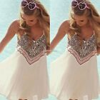 Boho Women Sleeveless Party Evening Cocktail Summer Beach Short Mini Dress N98B