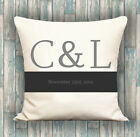 Marriage Date PERSONALISED LUXURY CUSHION COVER YOUR TEXT, PERFECT GIFT IDEA