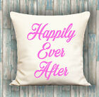 Happily Ever After PERSONALISED LUXURY CUSHION COVER YOUR TEXT, PERFECT GIFT