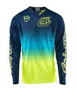 NEW 2017 TROY LEE DESIGNS SE STARBURST DIRTBIKE JERSEY BLUE/YELLOW ALL SIZES