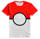 2016 Game Pokemon Go Poke Ball Cosplay Short Sleeve Cotton Print T-shirt Shirts