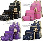 NEW 3 IN 1 Womens Bookbags Backpacks Gir School Bag Canva Rucksack For Teenagers