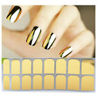 16pcs Metallic Color Nail Art Stickers Decal Manicure Accessories Makeup Fashion