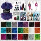 KING COLE TINSEL CHUNKY FUR LIKE KNITTING YARN & KNITTING PATTERN COLLECTION