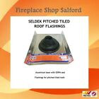 Seldek Roof Flashing seal for wood burning stove flues on tiled, sloped roofs