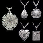 925 Sterling Silver Book Locket Pendant Necklace Photo Love Snake Chain Gift Box
