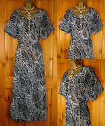 NEW EXCHAINSTORE LADIES BLACK IVORY BLUE SUMMER BEACH COVER UP DRESS UK 10 - 24