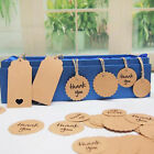 50pcs Kraft Paper Hang Tags Wedding Party Favor Punch Label Price Gift Cards New