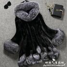 Hot Fashion Womens Fur Coat Warm Hooded Outwear Overcoat Jacket Parka Plus Size