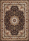 Brown Circles Orbs Vines Traditional-European Area Rug Bordered 1900-01855