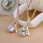 Sterling Silver Diamond Necklace Jewelry Sweet Female Models Exquisite New
